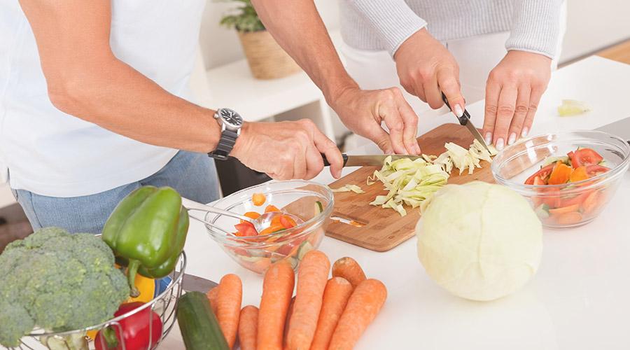 Preparing Dinner Together